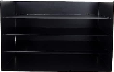Mind Reader 4 层信件托盘存储,文件整理器,邮件分类器,桌面架,铁,黑色