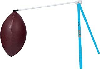 踢水! 橄榄球支架 - 足球固定夹踢球 T 恤 - 与足球场门柱或足球踢球网搭配使用(蓝色和白色)