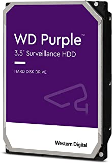 Western Digital Purple 14TB 监视硬盘驱动器-7200 RPM级,SATA 6 Gb / s,512 MB缓存,3.5英寸-WD140PURZ