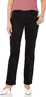 NYDJ 女式 Petite Marilyn 直筒天鹅绒牛仔裤