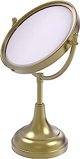 Allied Brass 8 英寸 Vanity Top 化妆镜 2X 放大 绸缎黄铜 DM-2/2X-SBR