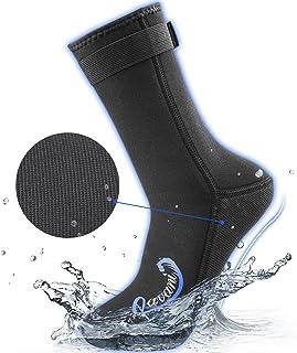 ravani 3 毫米氯丁橡胶袜,男式女式潜水袜,Ottman 织物鞋底提供额外的耐用性,凸起的线程提供强大的防滑能力,潜水服靴适合冲浪、潜水、划船、自由活动。
