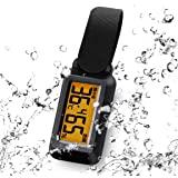 dretec 温湿度计 盐水 防滴 中暑/流行性感冒预警液位显示 时间功能 背光 便携式 O-291BKDI 黑色