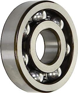 NTN 轴承 6408C3 单排深槽径向球轴承,C3 间隙,钢笼,40 毫米内径,110 毫米外径,27 毫米宽,打开