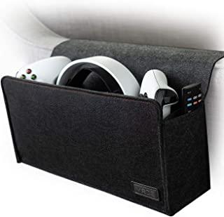 VRGE - 沙发床边游戏收纳盒存储支架适用于游戏控制器/耳机/Oculus Quest VR w/侧遥控器