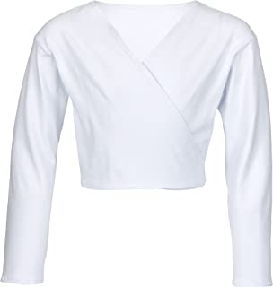 tanzmuster Girls´ 芭蕾裹身开衫 - Mandy - 由柔软耐用的棉混纺制成 - 粉色、黑色、白色、浅蓝色、紫色、深粉色、*蓝、薰衣草和酒红色。