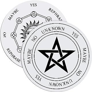 Jetec 2 件木制摆板带星星太阳和月亮用于***,装饰***形态信息板木制雕刻板祭坛装饰适用于女巫和巫婆(白色和黑色)