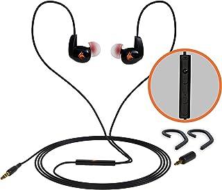 iFox Creations iFE4 入耳式有线运动耳机,带内置麦克风,耳钩和音量控制