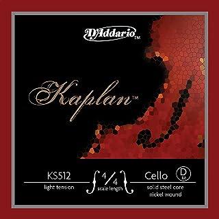 D'Addario Kaplan 4/4 比例光张力单根 D 弦,适用于大提琴