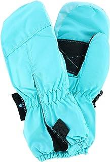Grand Sierra 女童 2-4 滑雪连指手套,中间开口,蓝色