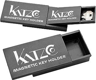 Katzco 磁性钥匙扣 - 3 种尺寸相互嵌套,方便存放 - 3、4 和 5 英寸 - 坚固的黑色塑料外壳带强力磁铁 - 适用于*隔层、额外的汽车钥匙和房子