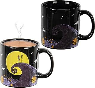 Disney 圣诞夜惊魂月亮风景热反应变色 526.80 克。 茶咖啡马克杯
