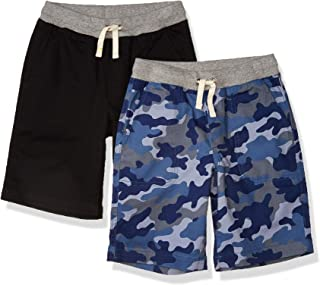 Amazon Essentials 男童大号 2 件装套穿梭短裤