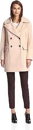Vince Camuto 女式双排扣羊毛大衣