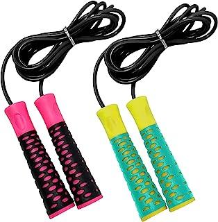 MemoGifts 跳绳 儿童跳绳 – 跳绳锻炼带防滑手柄、亲肤且不打结 – 用于卡路里和*燃烧的跳绳 – 锻炼健身房健身跳绳 – 儿童跳绳