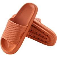 SENHINLIN House Air 轻质拖鞋带超厚鞋底但柔软浴室防滑鞋特别适用于带排水孔淋浴,夏季室内快速干燥