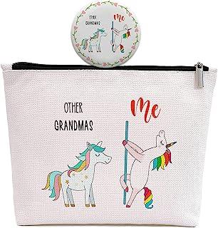独角兽奶奶礼物,生日母亲节祖父母节感恩节圣诞礼物给祖母纳娜吉吉妈妈,其他奶奶,我独角兽,化妆包