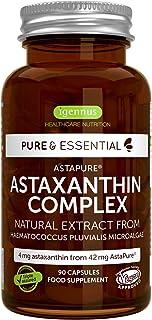 纯必需品虾青素复合物,42 毫克 astapure 提供 4 毫克 astaxanthin,90 粒胶囊
