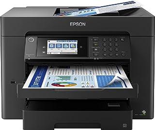 Epson 爱普生 WorkForce WF-7840DTWF 4 合 1 商务喷墨多功能设备(打印机扫描仪,复印机,传真,WiFi,以太网,NFC,全双工,单墨盒,*高DIN A3+)黑色