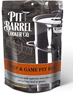 Pit Barrel Cooker PRO250BG 牛肉和游戏用牛肉和游戏盆摩擦 2.5 磅袋,均码