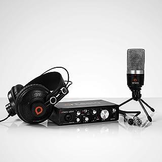 Artesia ARB-4 录音包 - 专业 24 位 USB 音频接口 带录音室监听耳机 + 心形电容麦克风 + 台式耳机挂钩 + 麦克风线 + Bitwig Studio 8