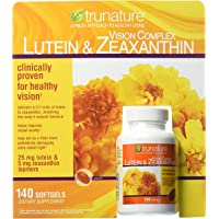 TruNature 复合叶黄素 玉米黄质补充剂 维持健康视力 140粒 Complex Lutein and Zeaxa…