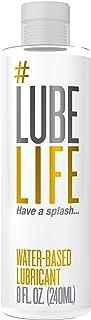 Lube Life 水基个人润滑剂,8 盎司(约236.56 毫升)性润滑剂,男士,女士和情侣