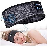 *耳机蓝牙 5.0 *耳机头带 - 轻薄柔软弹性舒适侧睡,无线音乐头带耳机,适用于*运动瑜伽,男士女士礼物