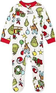 The Grinch who Stole 圣诞配套家庭圣诞睡衣男婴女孩中性款格林奇睡衣
