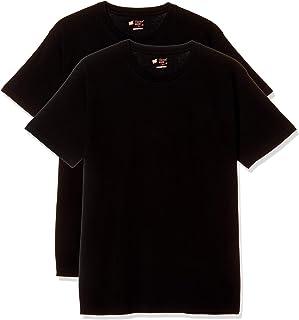 [Hins] T恤 Japan Fit 圆领 2件装 H5310BK