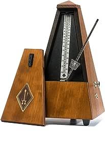 ウィットナー 木製メトロノーム つや消し仕上げ 拍子ベル付き ウォルナットカラー