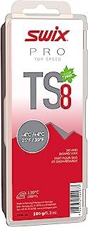 TS08-18 - *速度蜡 - TS8 红色 - 25 至 80 ℉ - 180 克棒 - 无氟 - 滑雪或滑雪板 - FIS 认证