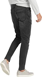 Banana Republic 男式 603396 修身弹力棉质牛仔裤水洗黑色 灰色