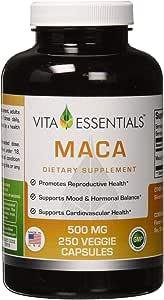 Vita Essentials胶囊,玛卡,500毫克,250粒