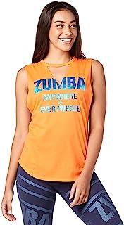 zumba 健身女式宽松 fitting 工字背心衬衫