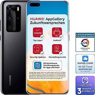 Huawei 华为 P40 Pro Dual-SIM BUNDLE (16.7cm (6.58英寸),256GB内部存储,8GB RAM,Android 10.0 AOSP 无Google Play商店,EMUI 10.0.1),午夜黑