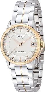 Tissot 女士豪华自动象牙色表盘双色不锈钢女士手表 T0862072226101