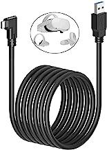 Unidanho Oculus Quest Link 电缆 16FT(5M) 5Gbps USB 3.2 Gen1 3A 高速数据传输和快速充电线,兼容 Oculus Quest2/1 VR 耳机和游戏电脑(16 英尺)