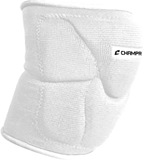 champro 运动 pro-plus 6.35cm 低 profile volleyball 护膝 dri-gear 白色, S-L