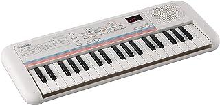 Yamaha Remie PSS-E30 - 便携式轻便键盘,适合幼儿,47 种内置语音,74 种声音效果和测验模式,有趣的学习乐器,白色