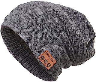 REDESS 无线蓝牙无檐小便帽,中性户外运动针织帽,带立体声扬声器和麦克风