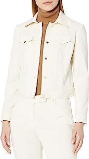 Anne Klein 女士接缝灯芯绒前扣夹克