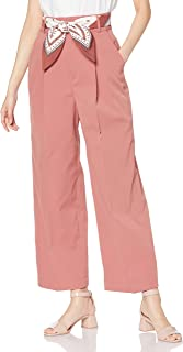 TRANTEANEN de mode] 带丝巾腰带阔腿裤 女士 0040350