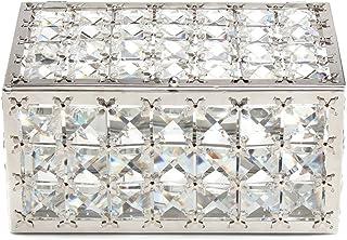 Lasody 长方形水晶首饰盒饰品收纳盒耳环盒宝藏存储纪念品镜面带盖子,母亲节礼物,情人节礼物