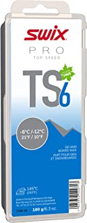 TS06-18 - *速度蜡 - TS6 蓝色 - 10 至 -15 ℉ - 180 克棒 - 无氟 - 滑雪或滑雪板 - FIS 认证