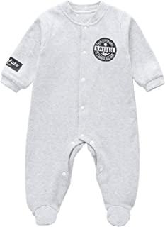 AIBEIYI 婴儿连衫裤女孩男孩连体连脚连身衣新生儿婴儿连体衣长袖服装