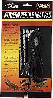 iPower 15.24 X 20.32 厘米爬行动物加热垫油箱加热垫适用于两栖动物和爬行动物宠物,黑色