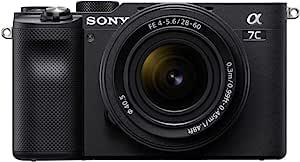 Sony 索尼 Alpha 7C 全框紧凑型无反光相机套件 - 黑色 (ILCE7CL/B)