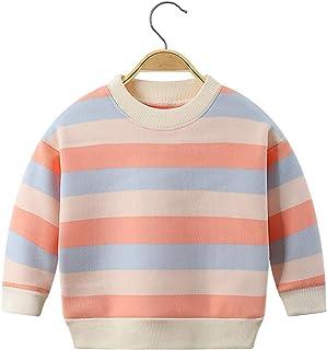 Ctskyte 幼儿羊毛长袖套头运动衫条纹儿童针织圆领毛衣