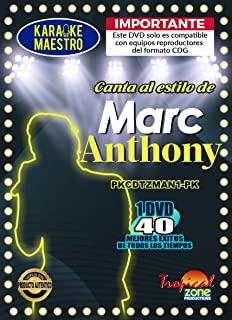 卡拉 OK Marc Anthony DVD 40 首歌曲